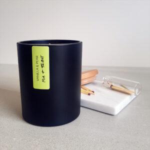 Matte Black Tumbler Candle