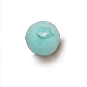 Blue sphere bath bomb