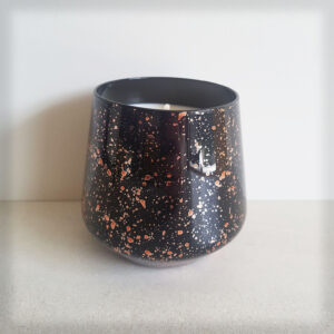 Black & Gold Fleck Glass Soy Candle