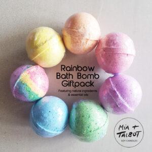 Rainbow Bath Bombs Giftpack