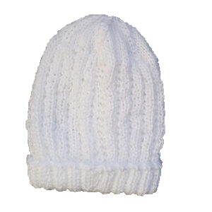 White Pure Wool Baby Beanie