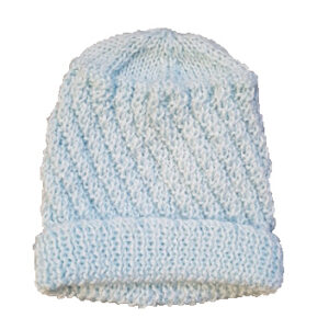 Pale Blue Pure Wool Baby Beanie