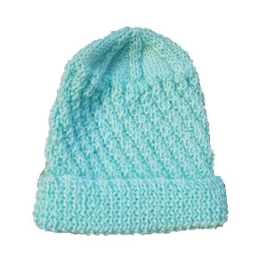 Blue Pure Wool Baby Beanie