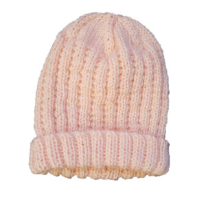 Peach Pure Wool Baby Beanie