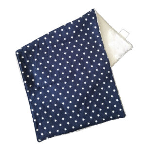 Navy & White Stars Burp Cloth