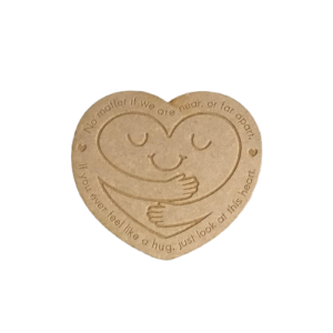 'Hug' Natural Wood Magnet