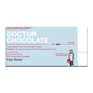 Doctor Chocolate- 100g Dark Chocolate Bar