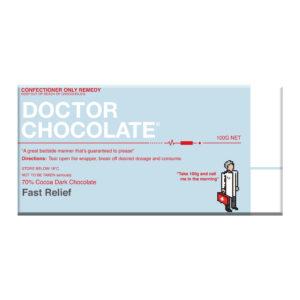 Doctor Chocolate- 100g Dark Chocolate Bar